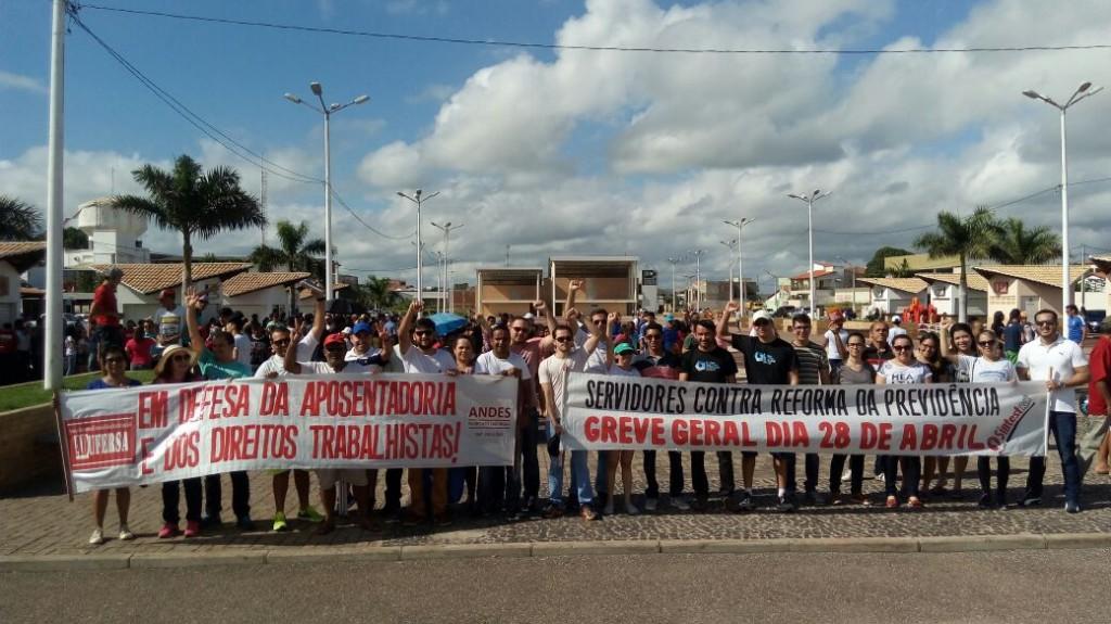 Manifestação em Pau dos Ferros, no alto oeste potiguar.