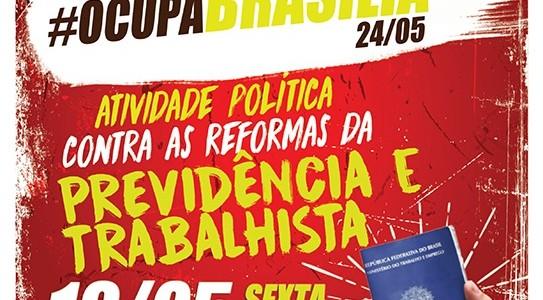 Fórum promove adesivaço contra reforma da previdência e trabalhista