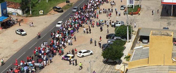 A aula foi na rua nesse dia 15 de Maio