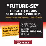 """ADUFERSA promove discussão sobre riscos do programa """"Future-se"""""""