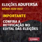 Edital de Convocação de Eleição – Retificação