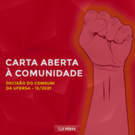 CARTA ABERTA À COMUNIDADE