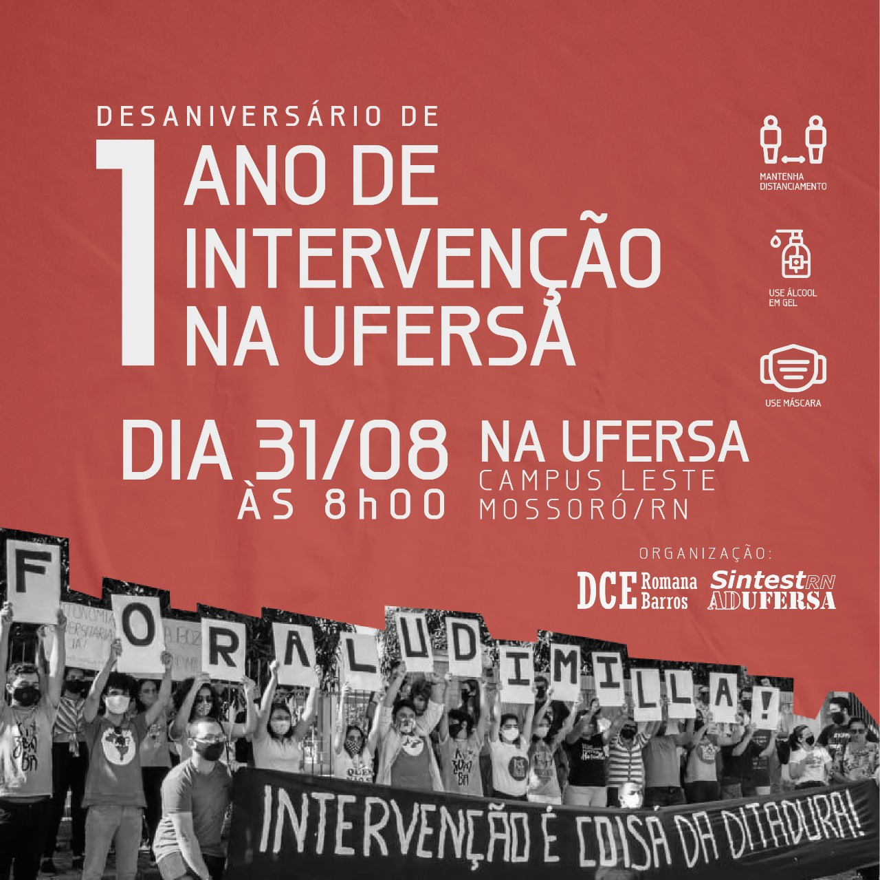 DESANIVERSÁRIO DE 1 ANO DA INTERVENÇÃO!